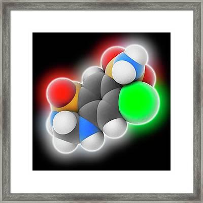 Hydrochlorothiazide Drug Molecule Framed Print