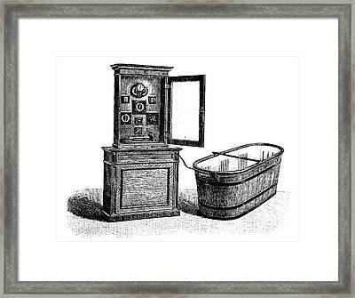 Hydroelectric Bathroom Cabinet Framed Print