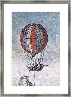Hydrogen Balloon For A Military Use Framed Print