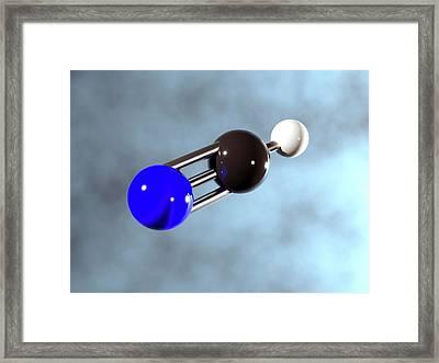 Hydrogen Cyanide Molecule Framed Print