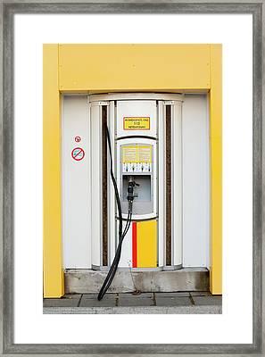 Hydrogen Filling Station Framed Print