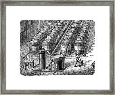 Hydrogen Gas Production Plant Framed Print by Science Photo Library