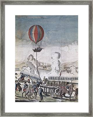 Hydrogen Hot-air Balloon For Military Framed Print