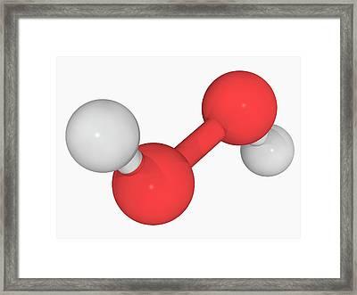 Hydrogen Peroxide Molecule Framed Print by Laguna Design/science Photo Library