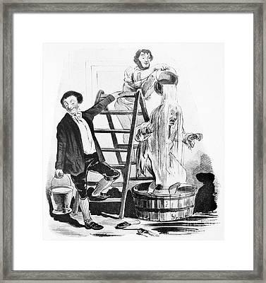 Hydropathy, Satirical Artwork Framed Print by Spl
