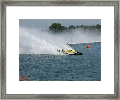 Hydroplane Gold Cup Race Framed Print by Michael Rucker
