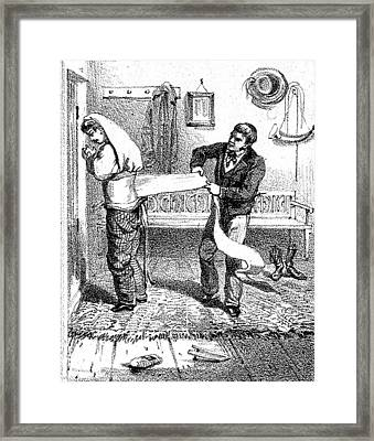 Hydrotherapy, Corset Wrap, 1860s Framed Print
