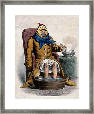 Hydrotherapy, Cure Of Common Cold, 1833 Framed Print