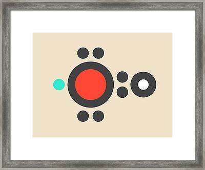 Hydroxyl Radical Molecule Framed Print by Molekuul