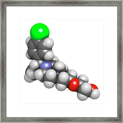Hydroxyzine Antihistamine Drug Molecule Framed Print
