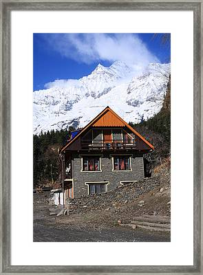 Hymalayan Mountain Village - Nepal Framed Print
