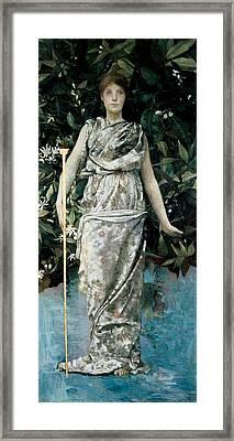 Hymen, 1884-86 Oil & Gold Leaf On Panel Framed Print