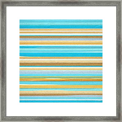 Hymn Of Teal Framed Print by Lourry Legarde