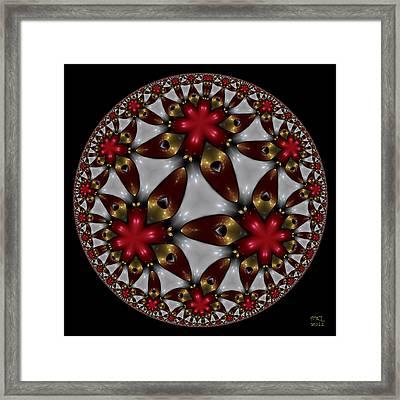 Hyper Jewel I - Hyperbolic Disk Framed Print by Manny Lorenzo