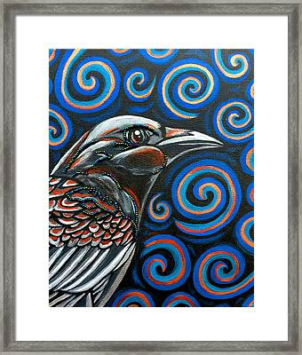 Framed Print featuring the photograph Hyper Raven by Sarah Crumpler