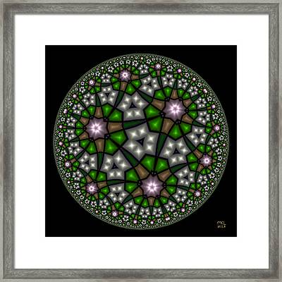 Hyperbolic Neural Net Framed Print
