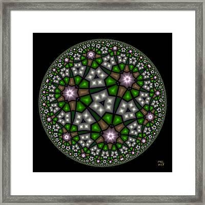 Hyperbolic Neural Net Framed Print by Manny Lorenzo