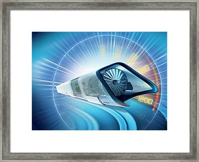 Hyperloop Train Framed Print