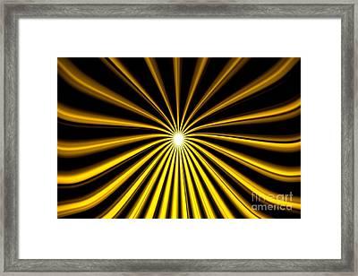 Hyperspace Gold Landscape Framed Print