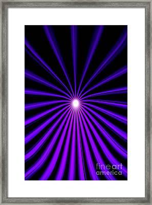Hyperspace Violet Portrait Framed Print