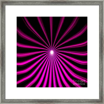 Hyperspace Violet Square Framed Print by Pet Serrano