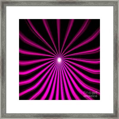 Hyperspace Violet Square Framed Print