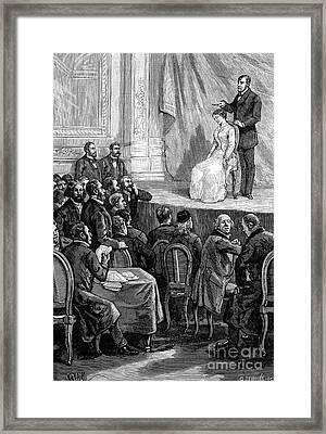 Hypnosis Demonstration, 19th Century Framed Print by Spl