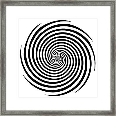 Hypnosis Spiral Framed Print