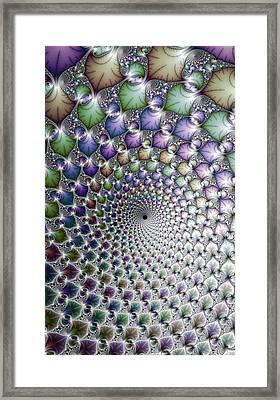 Hypnotising Colorful Vortex Spiral Framed Print by Matthias Hauser
