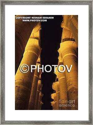Hypostyle Hall - Temple Of Luxor - Luxor - Egypt Framed Print by Hisham Ibrahim
