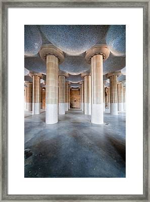 Hypostyle Room In Park Guell Framed Print by Artur Bogacki