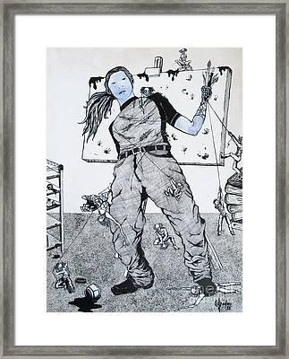 Hysteria Framed Print by Ani DaVinci