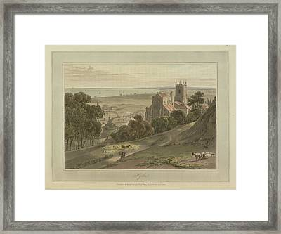 Hythe Coastal Landscape Framed Print by British Library