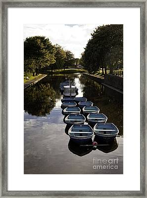 Hythe Military Canal Kent Framed Print by Lesley Rigg