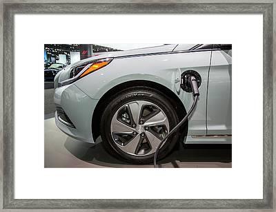 Hyundai Sonata Plug-in Hybrid Car Framed Print