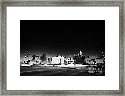 i-15 north and tropicana road junction intersection looking towards Las Vegas Nevada USA Framed Print