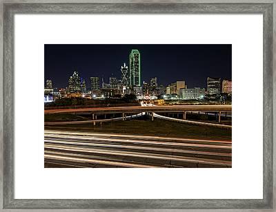 I-35e Dallas Framed Print