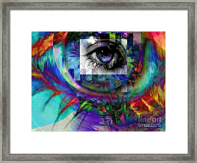 I Abstract Framed Print by Elizabeth McTaggart