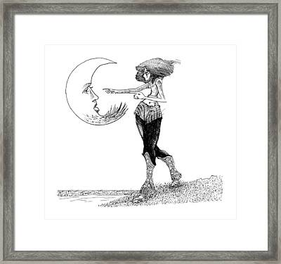 I Accuse Framed Print by Ch' Brown