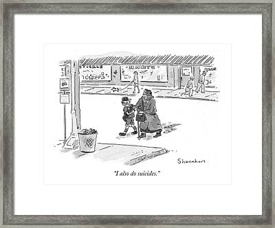 I Also Do Suicides Framed Print by Danny Shanahan