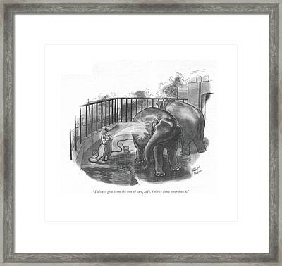 I Always Give Them The Best Of Care Framed Print by Richard Decker