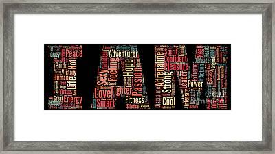 I Am - Version No22 Framed Print