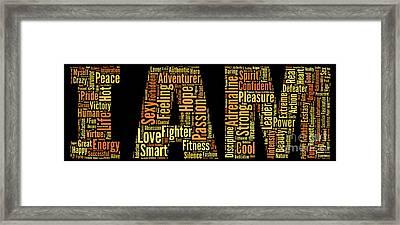 I Am - Version No32 Framed Print