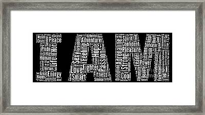 I Am - Version No49 Framed Print