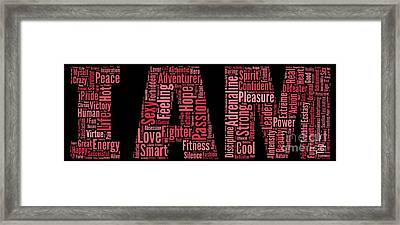 I Am - Version No5 Framed Print