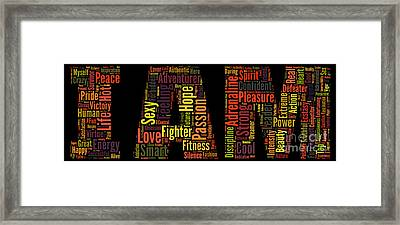 I Am - Version No54 Framed Print
