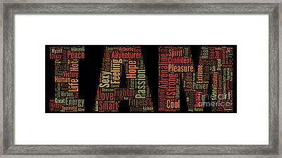 I Am - Version No7 Framed Print