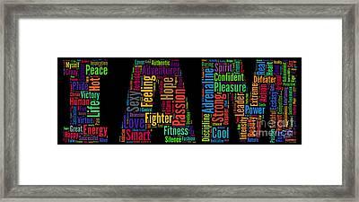 I Am - Version No9 Framed Print