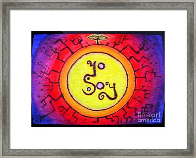 I Am.   /   Yosoy Framed Print by Raul Morales
