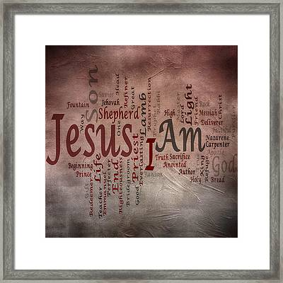 I Am 1 Framed Print